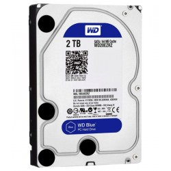 "Disco Duro WD Blue 2TB 3.5"" SATA 6 Gb/s 7200RPM 64MB"